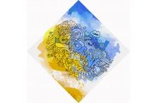 Бандана с украинской символикой. Дизайн-06