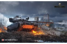 Баннер, плакат, постер «World of Tanks», CENTURION ACTION X