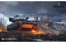 Баннер, плакат, постер «World of Tanks», CENTURION ACTION X