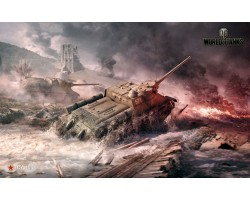 Баннер, плакат, постер «World of Tanks», СУ-100. Вариант-01
