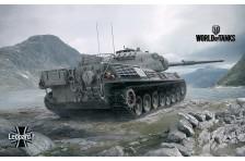 Баннер, плакат, постер «World of Tanks», Leopard1