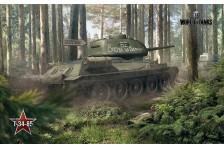 Баннер, плакат, постер «World of Tanks», T-34-85. Вариант-01