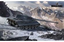Баннер, плакат, постер «World of Tanks», PzKpfw VIB Tiger II. Вариант-01