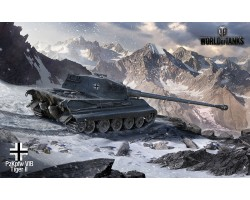 Баннер, плакат, постер «World of Tanks», PzKpfw VIB Tiger II. Вариант-01