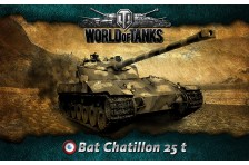 Баннер, плакат, постер «World of Tanks», Bat Chatillon 25 t