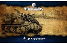Баннер, плакат, постер «World of Tanks», M7 Priest