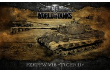 Баннер, плакат, постер «World of Tanks», PzkPfw VIB TIGER II. Вариант-02