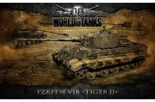 Баннер, плакат, постер «World of Tanks», PzkPfw VIB TIGER II. Вариант-02