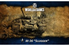 Баннер, плакат, постер «World of Tanks», M-36 Slugger