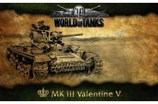Баннер, плакат, постер «World of Tanks», MK III Valentine V