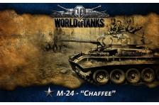 Баннер, плакат, постер «World of Tanks», M-24 Chaffee