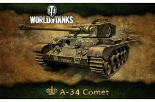 Баннер, плакат, постер «World of Tanks», A-34 Comet