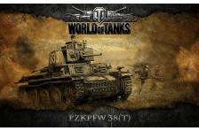 Баннер, плакат, постер «World of Tanks», PzkPfw 38(T)