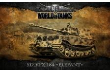 Баннер, плакат, постер «World of Tanks», Sd.Kfz.184 ELEFANT