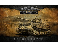 Баннер, плакат, постер «World of Tanks», Sd.Kfz.184 ELEFANT