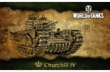 Баннер, плакат, постер «World of Tanks», Churchill IV