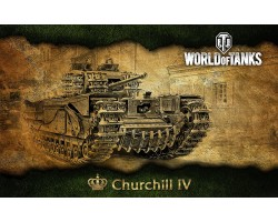Баннер, плакат, постер «World of Tanks», Churchill IV