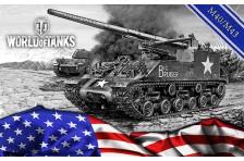 Баннер, плакат, постер «World of Tanks», M-40, M-43