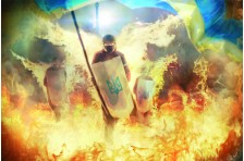 Баннер, плакат «Герои не умирают»