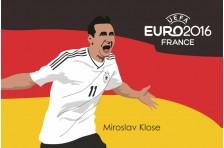 Баннер, плакат. Сборная Германии по футболу. Футболист Мирослав Клозе