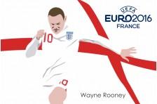 Баннер, плакат. Сборная Англии по футболу. Футболист Уэйн Руни