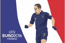 Баннер, плакат. Сборная Франции по футболу. Футболист Франк Рибери