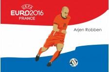 Баннер, плакат. Сборная Голландии по футболу. Футболист Арьен Роббен