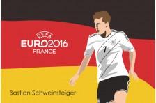 Баннер, плакат. Сборная Германии по футболу. Футболист Бастиан Швайнштайгер