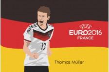 Баннер, плакат. Сборная Германии по футболу. Футболист Томас Мюллер