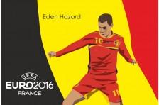 Баннер, плакат. Сборная Бельгии по футболу. Футболист Эден Азар