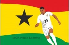 Баннер, плакат. Сборная Гана по футболу. Футболист Кевин-Принс Боатенг