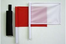 Флажки сигнальные в чехле (Красный-Белый)