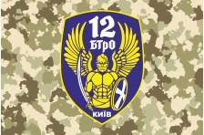 Флаг 12 БТрО (батальон территориальной обороны) «Киев» ВСУ. Вариант-4