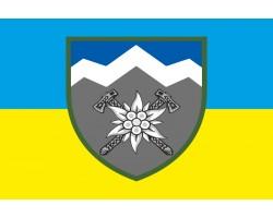 Флаг 10 ОГШБр (отдельная горно-штурмовая бригада) ВСУ. Вариант-04