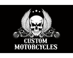 Флаг Custom Motorcycles. Вариант-01