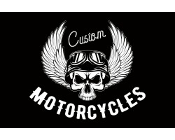 Флаг Custom Motorcycles. Вариант-06