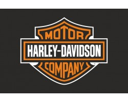 Флаг любителей Harley-Davidson (рус. Харли-Дэвидсон). Вариант-01