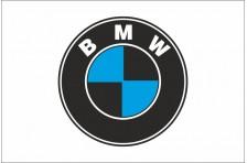 Флаг любителей BMW (рус. БМВ). Вариант-1