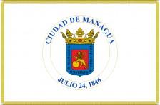 Флаг города Манагуа, Никарагуа