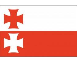 Флаг города Эльблонг, Польша.