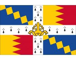 Флаг города Бирмингем, Англия (Великобритания).