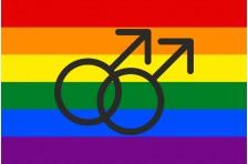 Флаг ЛГБТ - сообщества с символом геев
