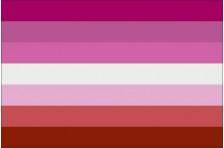 Флаг Lesbian Pride Flag. Вариант-01