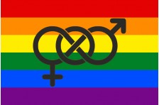 Флаг бисексуалов. Вариант-02
