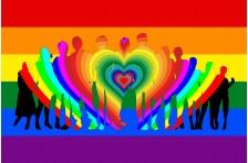 Флаг ЛГБТ - люди