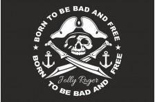 Флаг пиратский «Весёлый Роджер» (дизайн-08)