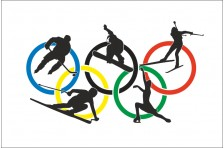 Флаг Зимних Олимпийских игр.