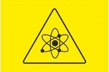 Флаг Атомная опасность. Вариант-01.