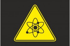 Флаг Атомная опасность. Вариант-02.
