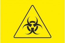 Флаг Биологическая опасность. Вариант-01.